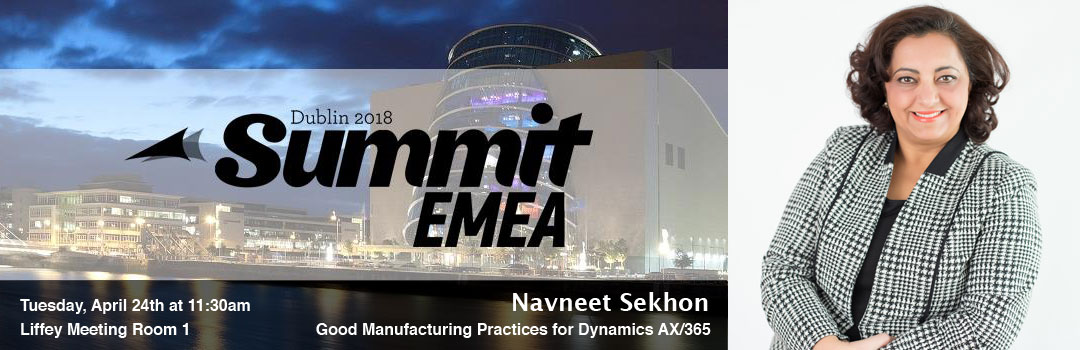 Navneet Sekhon's Perspective on Good Manufacturing Practices for Dynamics 365 & AX