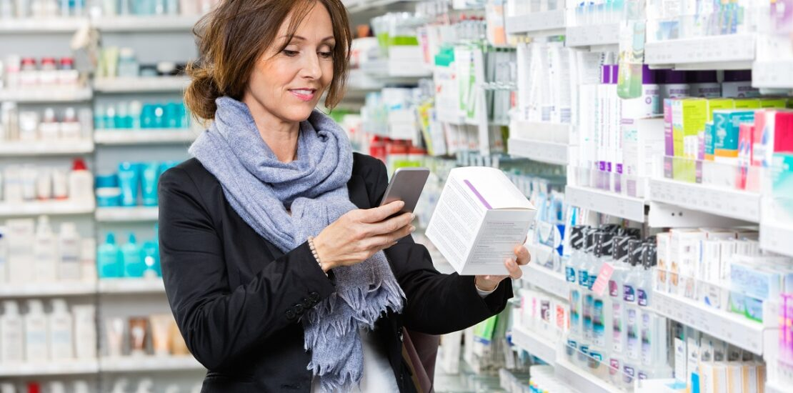 Customer scanning product through cell phone 03302021 2